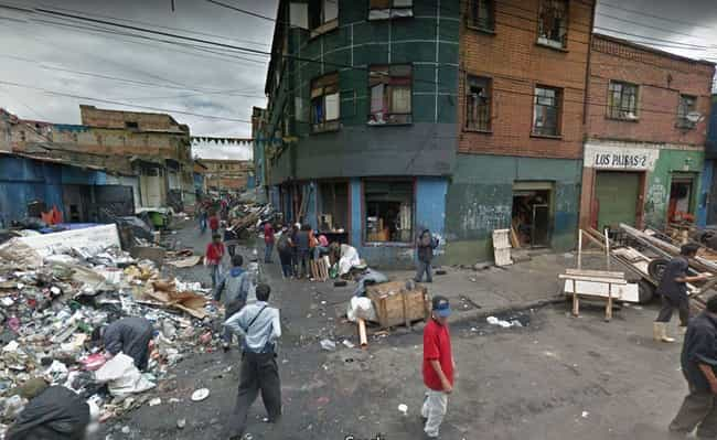 El Bronx, Bogota, Colombia is listed (or ranked) 3 on the list The Most Flat-Out Horrifying Places And Images You Can Find On Google Street View