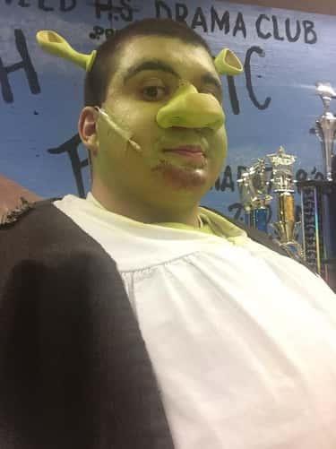 Attendees Dress Up As Their Favorite Shrek Characters