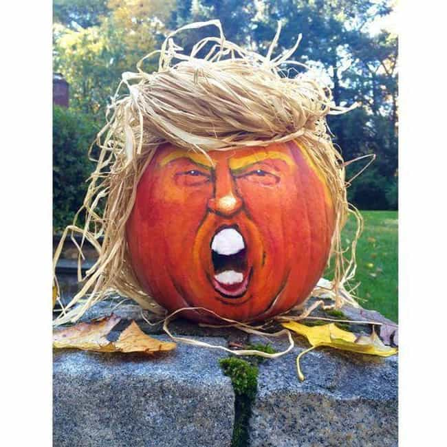 Angry Trumpkin Pumpkin is listed (or ranked) 4 on the list Shockingly Inappropriate Pumpkin Carvings That Are Scary For All The Wrong Reasons
