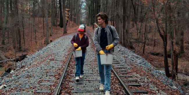 Steve And Dustin Walk Down The... is listed (or ranked) 4 on the list Easter Eggs And References That Totally Went Over Your Head In Stranger Things 2
