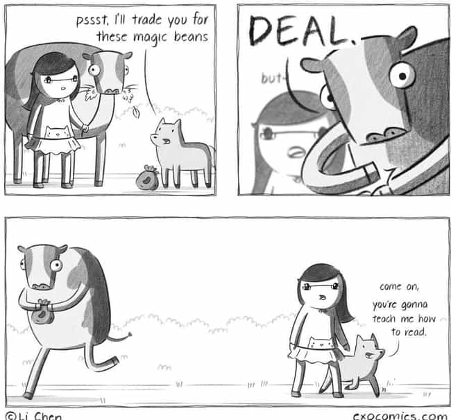The Pig Drives A Hard Bargain is listed (or ranked) 3 on the list This Woman Made Silly Webcomics About Her Cat, And Now It's Her Full-Time Job