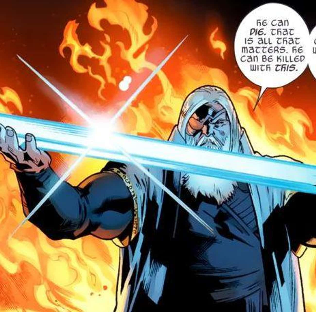 Odinsword is listed (or ranked) 2 on the list The Most Powerful Weapons In The Marvel Universe, Ranked By Destructive Force