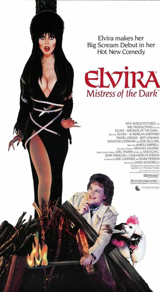'Elvira, Mistress Of The... is listed (or ranked) 2 on the list Everything You Never Knew About Elvira, Mistress Of The Dark And Where She Is Now
