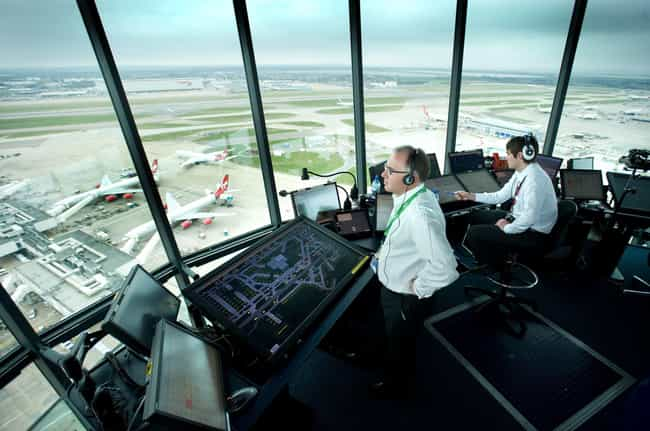 Air Traffic Controllers ... is listed (or ranked) 4 on the list Coroners, Roller Coaster Engineers And Others Reveal The Biggest Secrets About Their Professions