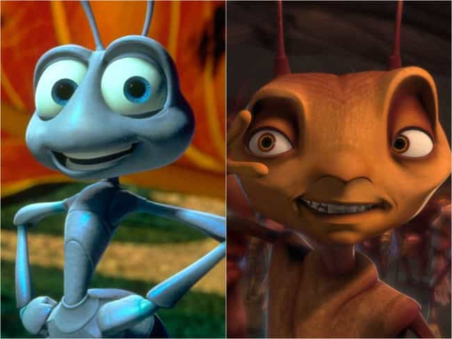 'A Bug's Life' And 'Antz... is listed (or ranked) 1 on the list 15 Movies With Bizarrely Similar (And Specific) Plots That Came Out At The Same Time
