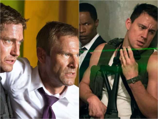 'Olympus Has Fallen' And... is listed (or ranked) 3 on the list 15 Movies With Bizarrely Similar (And Specific) Plots That Came Out At The Same Time
