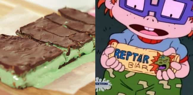 Reptar Bar From Rugrats ... is listed (or ranked) 8 on the list You Can Totally Make Your Favorite Tasty-Looking Cartoon Foods IRL