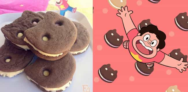 Cookie Cat Ice Cream Sandwiche... is listed (or ranked) 2 on the list You Can Totally Make Your Favorite Tasty-Looking Cartoon Foods IRL