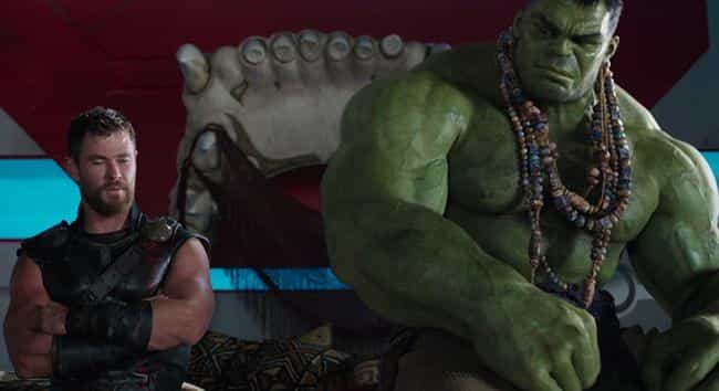 Hulk Wears His Ultimate Hulk E... is listed (or ranked) 2 on the list All The Easter Eggs Hidden In Thor: Ragnarok