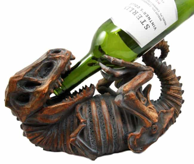 T-Rex Wine Holder is listed (or ranked) 1 on the list Things Anyone Who's A Full Grown Adult Still Obsessed With Dinosaurs Will Love
