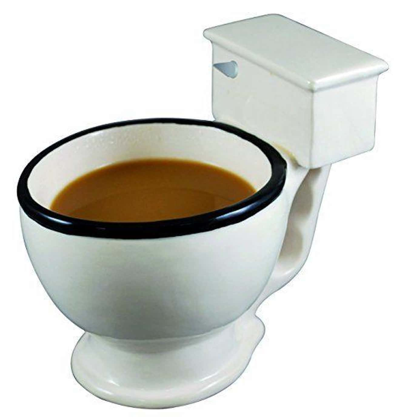 Ceramic Toilet Mug is listed (or ranked) 4 on the list Incredibly Bizarre Gifts That Are Certainly Not For Everybody