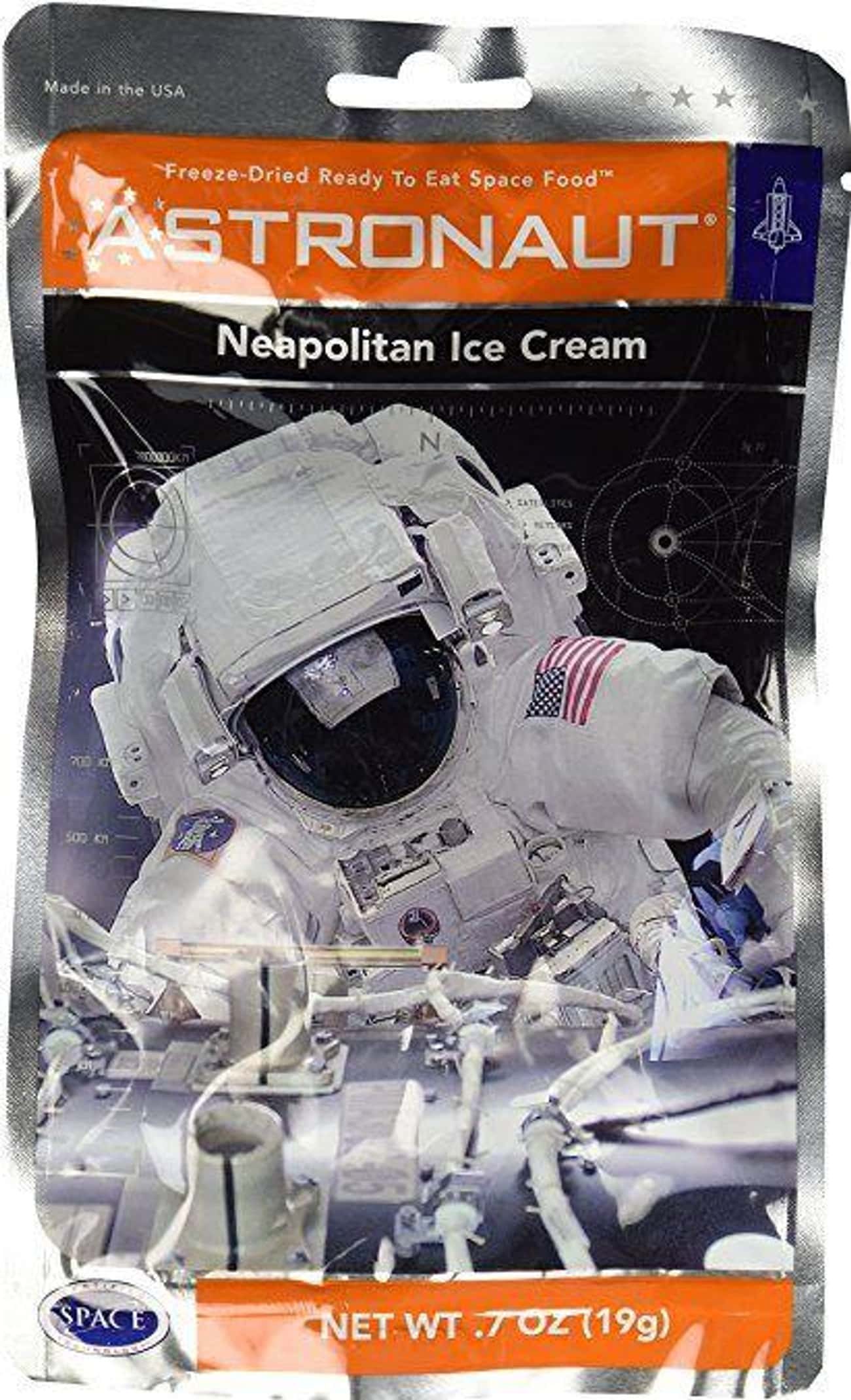 Astronaut Neapolitan Ice Cream is listed (or ranked) 3 on the list Bizarre Candy You Won't Be Able To Find At Your Local Gas Station