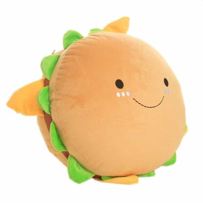 Cute Plush Hamburger Pillow is listed (or ranked) 3 on the list Deliciously Cute Food-Inspired Pillows You'll Want To Devour