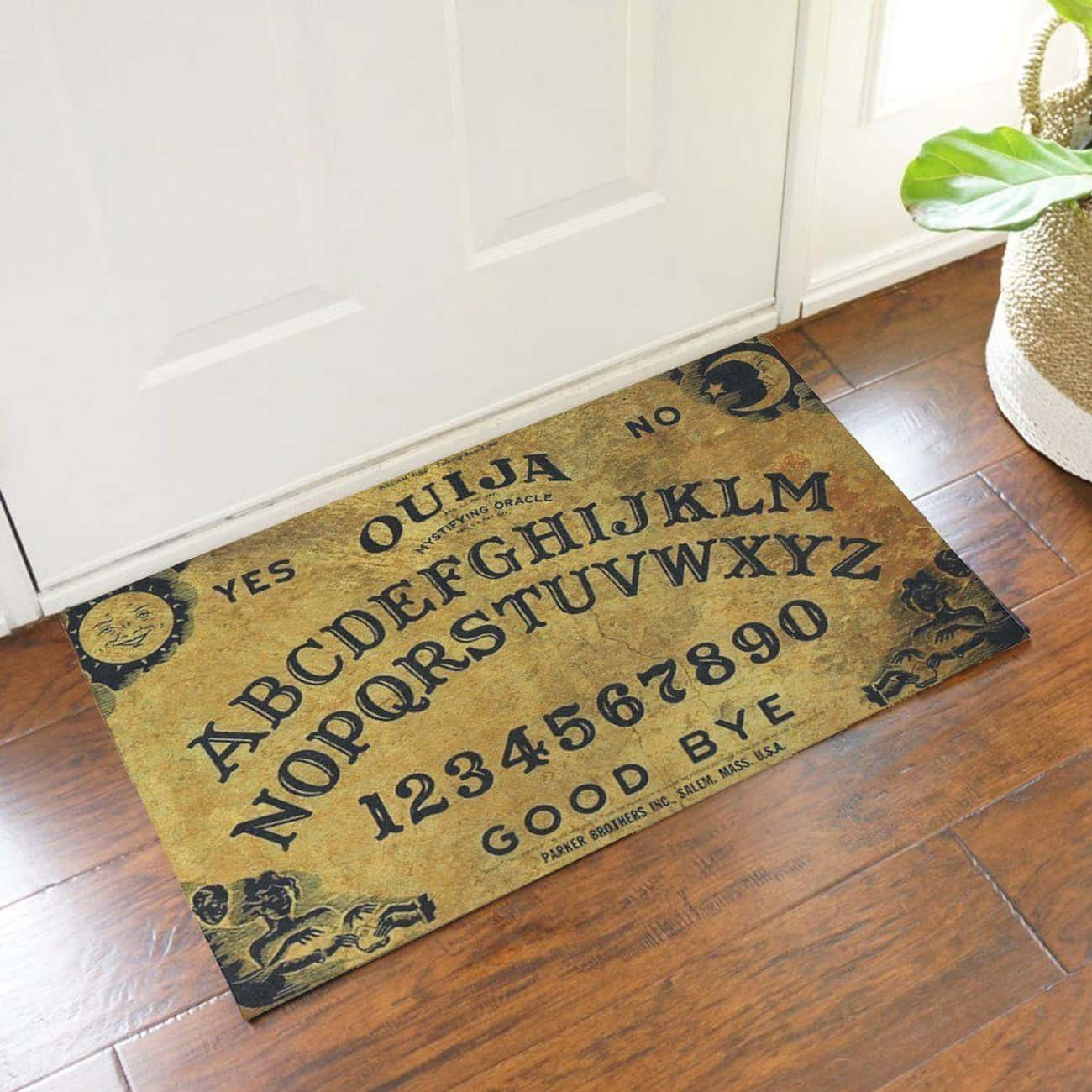 Ouiji Board Doormat is listed (or ranked) 3 on the list Unusual Gifts Perfect For People Who Love Any And All Things Creepy