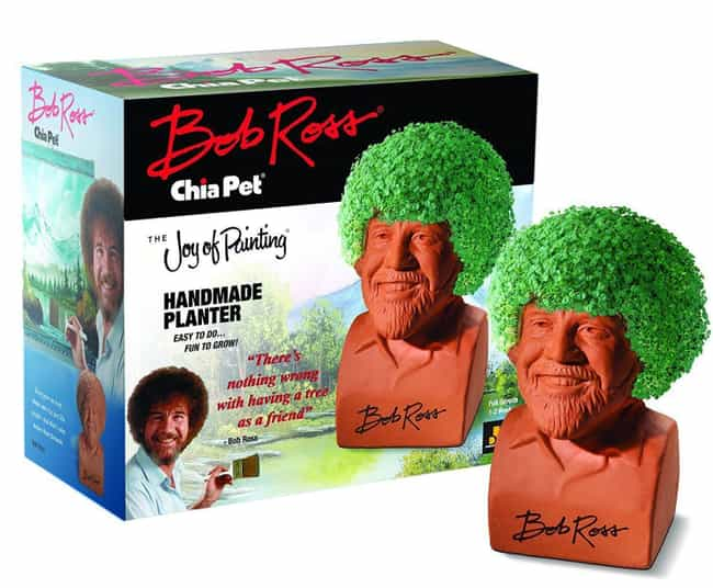 Chia Bob Ross is listed (or ranked) 1 on the list Chia Pets Still Exist And You Won't Believe How Many Crazy New Ones There Are