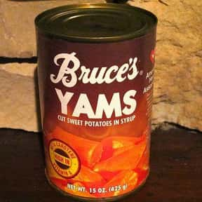 Bruce's Yams is listed (or ranked) 24 on the list The Most Nostalgia-Inducing Thanksgiving Brands