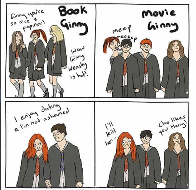 The Problem With Ginny ... is listed (or ranked) 3 on the list This Artist Captures How She Thinks Harry Potter Would Play Out IRL