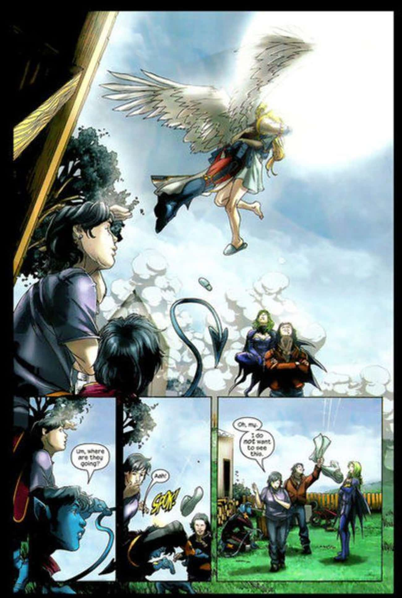 Archangel Deflowers A Teen In Front Of Her Mom