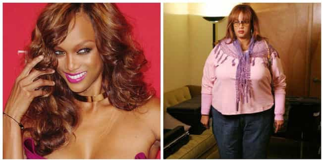 Tyra Banks On 'The Tyra ... is listed (or ranked) 4 on the list The Most Over-The-Top Celebrity Fat Suits Ever Worn In TV And Movie History