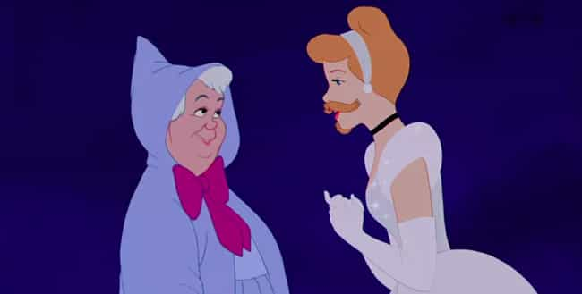 Cindarella Is Asking Her Fairy... is listed (or ranked) 2 on the list 10+ Of Your Favorite Disney Princesses Rockin' Beards And Mustaches