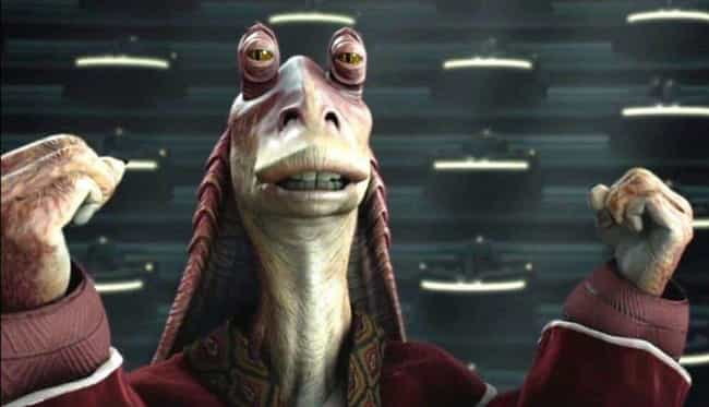 He Uses Mind Control To Destro... is listed (or ranked) 4 on the list This Fan Theory Has Reddit Convinced Jar Jar Binks Was The Greatest Sith Lord Of All Time