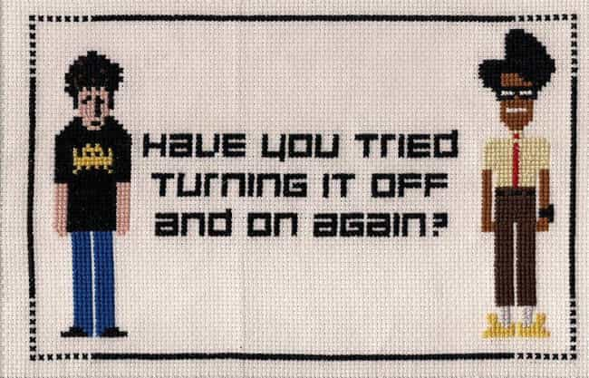 This Is A Good Reminder ... is listed (or ranked) 4 on the list Adorably Nerdy Cross Stitch Art That Every Geek Will Want On Their Wall