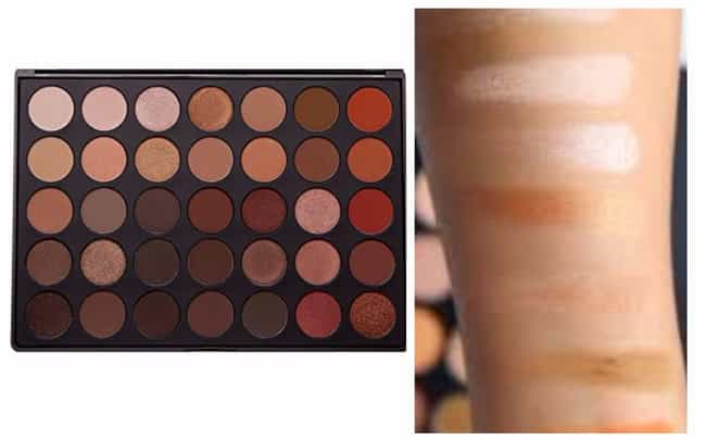 35 Color Nature Glow Eyeshadow... is listed (or ranked) 4 on the list God-Tier Palettes Every Makeup Junkie Would Kill For