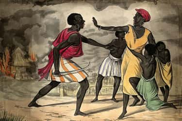 Africans Were Seized In Raids  is listed (or ranked) 1 on the list Hell On Water: The Brutal Misery Of Life On Slave Ships