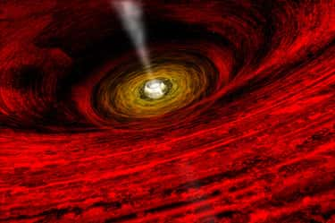 The View Near A Black Hole is listed (or ranked) 2 on the list Spooky Astronomy Photos That Might Make You Scared To Check Your Star Chart