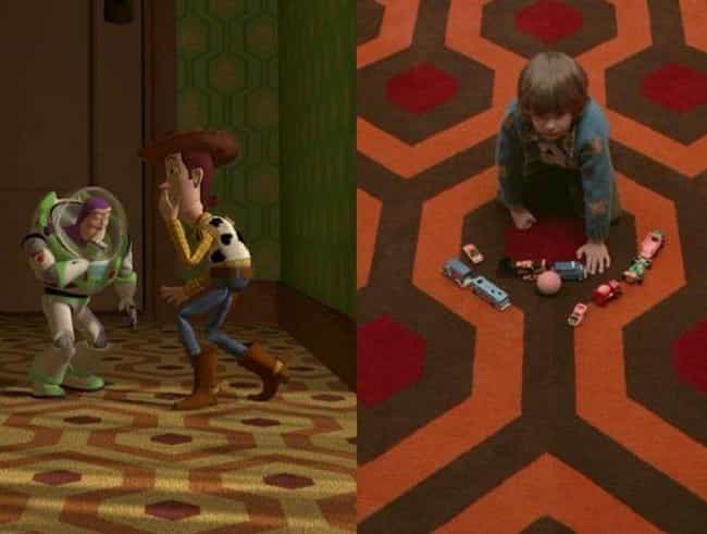 A Familiar Carpet - Toy Story is listed (or ranked) 1 on the list This Pixar Director Includes References To 'The Shining' In Each Of His Movies, Including 'Coco'