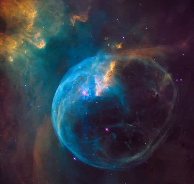 The Bubble Nebula is listed (or ranked) 1 on the list 26 Beautiful Nebula Photos That Show Just How Beautiful The Cosmos Can Be