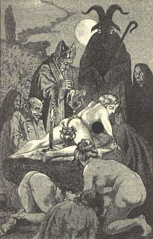 A Naked Virgin Would Lie On Th... is listed (or ranked) 4 on the list The Gruesome History Of The Black Mass