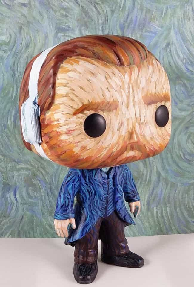 An Artsy Vincent Van Gogh is listed (or ranked) 3 on the list 20 Of The Best Fan-Made Funko Pop! Toys For The Nerd Who Has It All