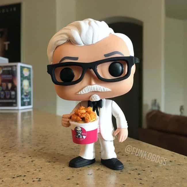 The Colonel Sanders Figure You... is listed (or ranked) 1 on the list 20 Of The Best Fan-Made Funko Pop! Toys For The Nerd Who Has It All
