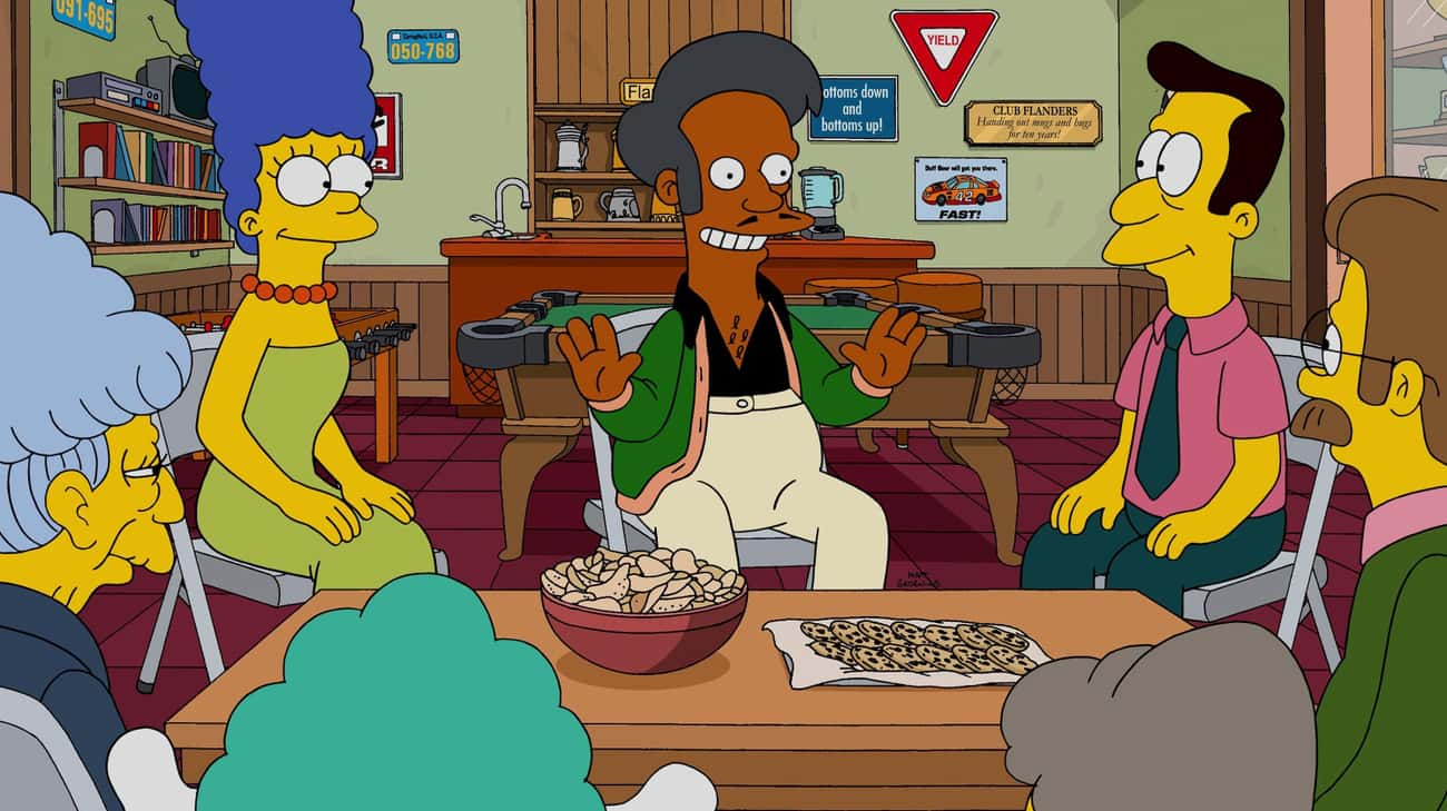 Perhaps Apu's Character Ca is listed (or ranked) 1 on the list 12 Reasons Why Apu Should Be Taken Off The Simpsons