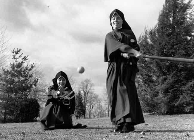 Nuns Playing Baseball (And App... is listed (or ranked) 3 on the list 16 Photos Of Nuns Living Life Just Like The Rest Of Us