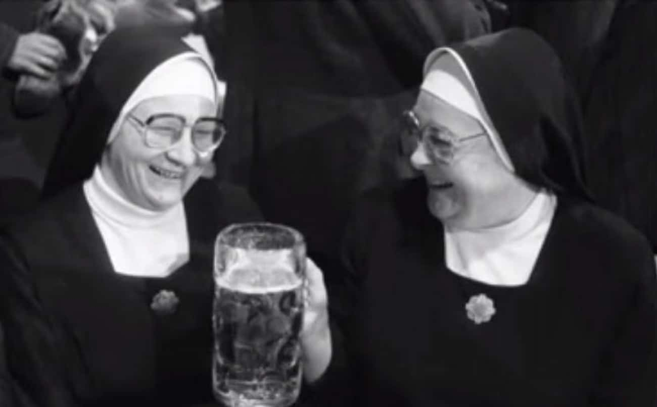 Nuns Enjoying A Giant Mug Of B is listed (or ranked) 4 on the list 16 Photos Of Nuns Living Life Just Like The Rest Of Us