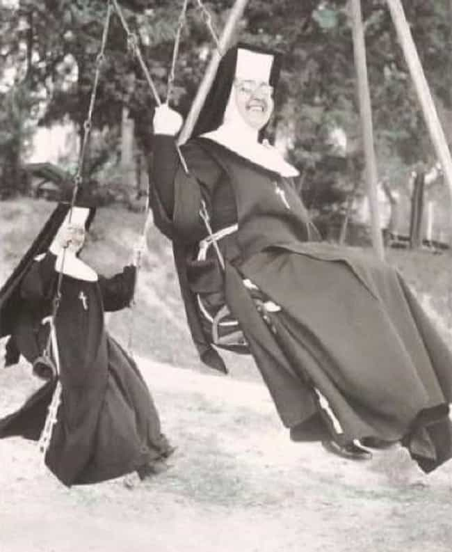 Nuns Having Fun On The Swing S... is listed (or ranked) 2 on the list 16 Photos Of Nuns Living Life Just Like The Rest Of Us