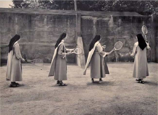 Nuns Practicing Their Tennis S... is listed (or ranked) 4 on the list 16 Photos Of Nuns Living Life Just Like The Rest Of Us