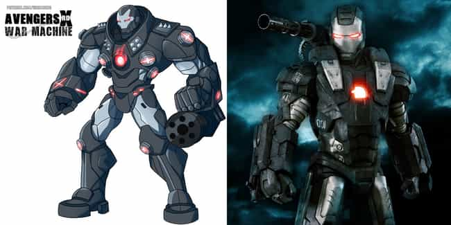 A True War Machine is listed (or ranked) 4 on the list These Fans Redesigned Marvel Costumes, And They're Awesome