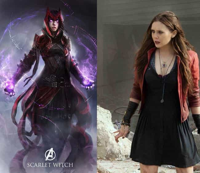 A Formidable Scarlet Wit... is listed (or ranked) 2 on the list These Fans Redesigned Marvel Costumes, And They're Awesome