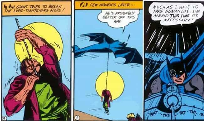 The Monster Man Is Hanged is listed (or ranked) 3 on the list Every Time Batman Has Brutally Murdered People Over The Decades