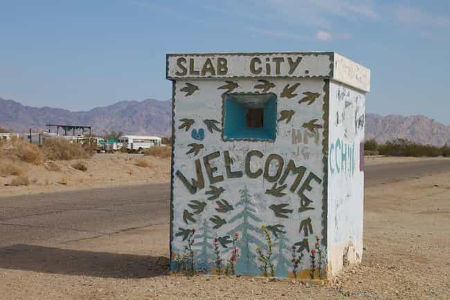 """It Is Known As """"The... is listed (or ranked) 1 on the list Slab City Is An Off-Grid Desert City, And Its Residents Claim It's The Last Free Place In America"""