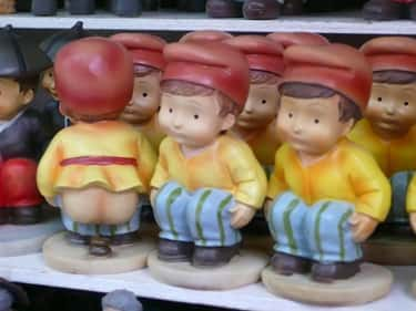 "The Word ""Caganer"" Literally M is listed (or ranked) 1 on the list Why Do People In Spain Add Someone Openly Pooping To Their Nativity Scenes?"