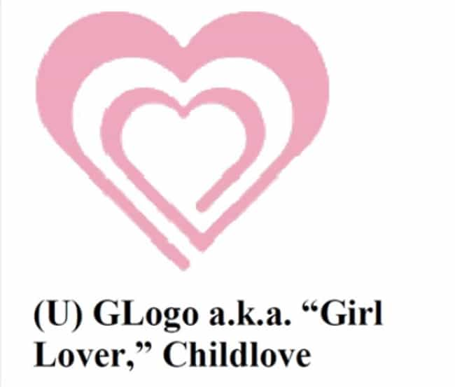 The 'Girl Lover' Symbol ... is listed (or ranked) 3 on the list Pedophiles Have Their Own Secret Code And They're Using It Right In Front Of You - On Your Children