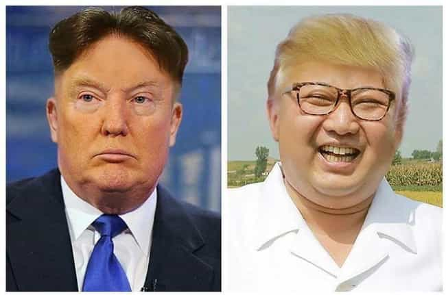 Those Haircuts is listed (or ranked) 4 on the list 11 Ways We Can Tell Donald Trump and Kim Jong-un Are Probably The Same Person