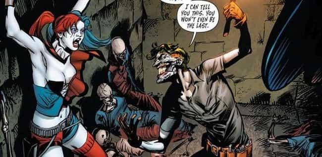 Joker Locks Harley In A ... is listed (or ranked) 1 on the list The Most Unspeakable Things The Joker Has Ever Done To Harley Quinn