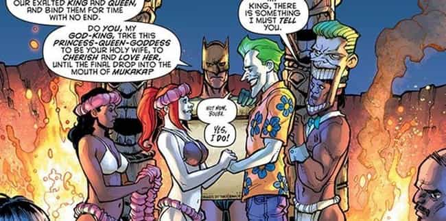 Joker Offers Harley Up A... is listed (or ranked) 4 on the list The Most Unspeakable Things The Joker Has Ever Done To Harley Quinn