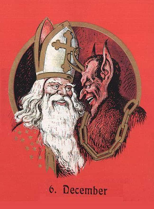 Santa And Krampus Play G... is listed (or ranked) 2 on the list Unpacking Krampus: Santa's Evil Partner In Crime
