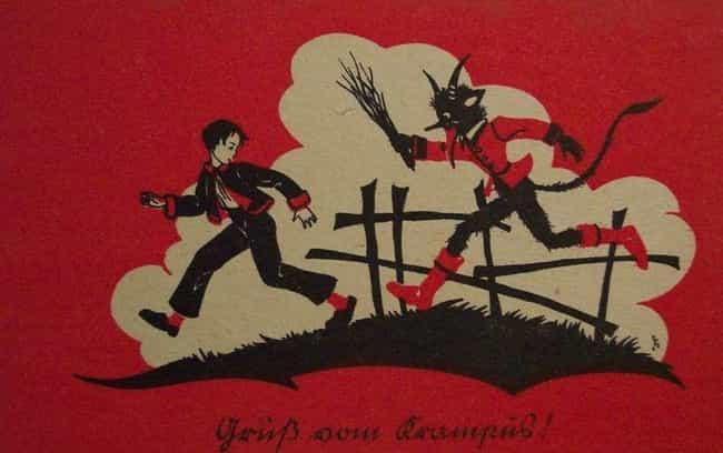 Krampus Carries A Bundle... is listed (or ranked) 3 on the list Unpacking Krampus: Santa's Evil Partner In Crime